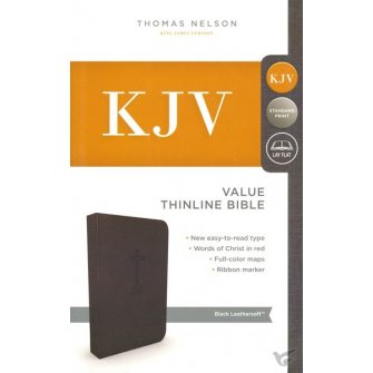 Thinline Bible - Black : Bible - KJV, 9780718098209