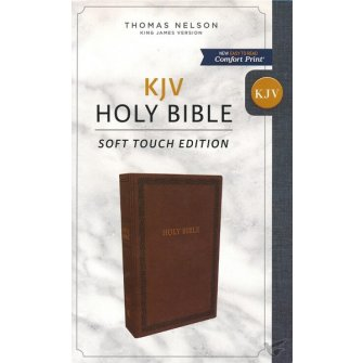 KJV, Holy Bible, Soft Touch Edition, Imitation Leather, Brown, Comfort Print