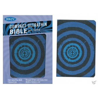 Compact Ultrathin Bible for Teens Blue Vortex - Leathertouch