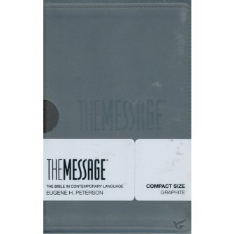 The Message - Compact Bible Graphite - Imit. Leather