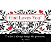 God loves you (25) Pass Around Card - 8x5cm