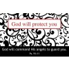 God will protect you (25) Pass Around Card - 8x5cm