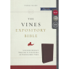 The NKJV, Vines Expository Bible, Bonded Leather, Black, Comfort Print