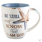 Be stil and know that I am God - Mug in giftbox - 390 ml