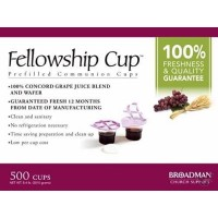 Communion Fellowship Cup 500 (Wafer & Ju : Communion  Ware, 0081407011592