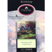 Birthday - Thanking God For You On Your Birthday Thomas Kinkade, Painter Of Light 12 Cards, 3 each of 4 designs