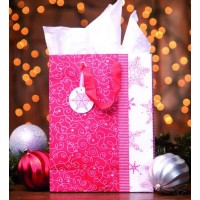 Jesus is the gift - Red (Christmas Gift Bag - Large) 33 x 25 x 14 cm