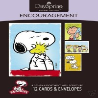 Encouragement - Peanuts (12er Kartenbox) set of 12 cards, 4 designs