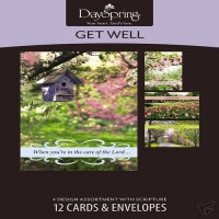 Get well - When you are in the care of the Lord (12er Kartenbox) set of 12 cards, 4 designs