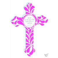 Joy - Pink - Resin cross