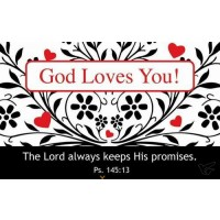 God loves you (pack of 25) :   Pass it on cards, 6006937103337