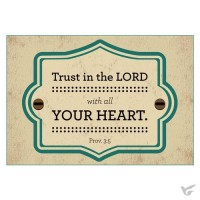 Trust in the Lord - Magnet - 91 x 66 mm