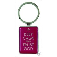Keep calm and trust God - Keyring