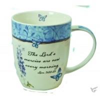 The Lord's mercies are new every morning, Mug 400 ml in gift box Tasse in Geschenkverpackung