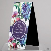 Faith grows from seeds of love (Magnetic PageMarker) 45 x 90 mm