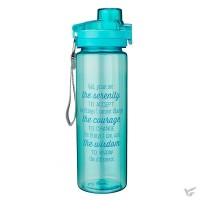 God grant me the serenity - Blue - Plastic Water Bottle 750 ml