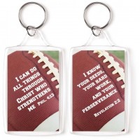 I can do all things - Football - Sports keyring 4,5 x 7 cm