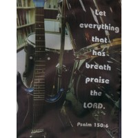 Let everything that hast breath raise the Lord - Large 19 x 25,4 x 5 cm
