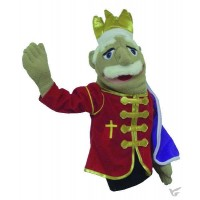 King - Cross embroidery - Puppet