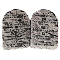 Ten Commandments - Pewter :   Tabletop decor - 67 x 79 mm, 637955053456
