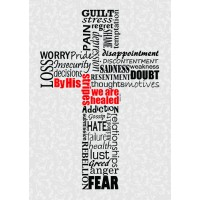 By His stripes we are healed :   Poster 48 x 24 cm, 042516634003