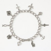 Symbols of Faith (Silver colored bracelet)