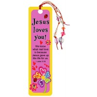 Jesus Loves You - Beaded Tassel