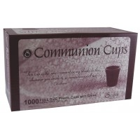 Cross Cup - 1000 Communion Cups (Abendmahlkelche aus Plastik mit Kreuz, 15ml) On the side of every cup is a cross as a reminder of God's love