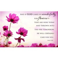 And if God cares so wonderfully - Flower :   Magnet - 8 x 5 cm, 6006937113770