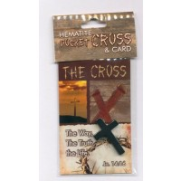 The Cross - Hematite Pocket cross & Card