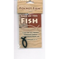 Fish - Hematite Pocket fish & Card