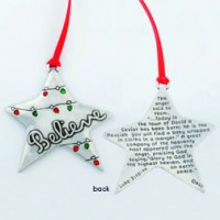 Believe - Christmas ornament :   Christmas, 637955065305