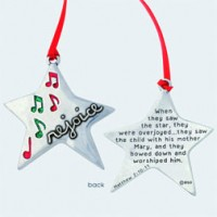 Rejoice - Christmas ornament :   Christmas, 637955065312