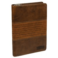 Strong and Courageous, LuxLeather Journal 14,5 x 21 cm Zipper closure