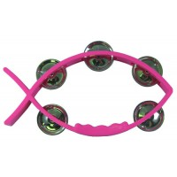 Tambourine Pink - Fish shaped 11 X 20 cm - With 5 pairs of cymbals