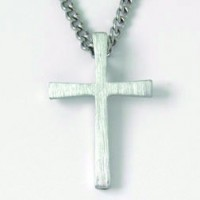Cross - Flared (Pewter necklace)