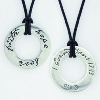 Faith Hope Love (Pewter necklace)