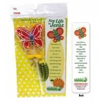 Butterfly Pop with Caterpillar Gummie - including bookmark Schmetterlingslutscher mit Fruchtgummiraupe - Mit Lesezeichen