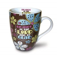 Rejoice in the Lord and be Glad - Ceramic Curvy Mug - 350 ml