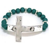 Silver/Turquoise colored - Hammer cross :   , 759830221023