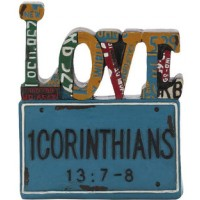 Love - License plate : Figurine - Resin, 603799530378