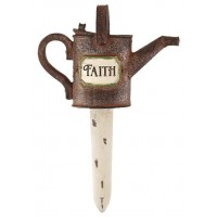 Faith - Sprinkling can - Resin garden fl :   , 603799524421
