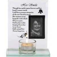 Her smile - Glass photoframe with tealig :   , 603799524858