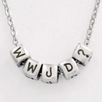 WWJD? (Block Pendant Necklace)