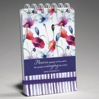 Flowers apear on the earth : Wirebound  notepad, 6006937119413