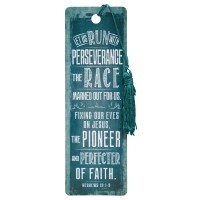 Let us run with perserverance - PVC Bookmark - 51 x 155 mm