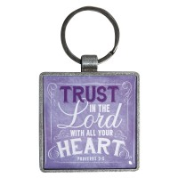 Trust in the Lord with all your heart : Keyring - Metal, 6006937122666