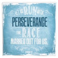 Let us run with perserverance - Decor Block - 159 x 159 x 34 mm