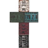 License Plates - Wall cross - 27,5 x 29 cm