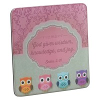 God gives wisdom, knowledge and joy :   Magnet - 73 x 73 mm, 6006937119437